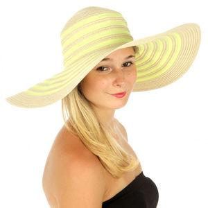 Pastel circle line sun hat